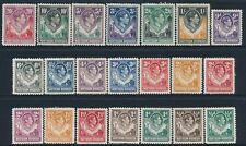 1938-1952 NORTHERN RHODESIA DEFINITIVES SET OF 21 MINT (MLH) SG25-SG45