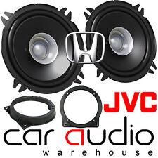 Honda CIVIC 2001-06 13 cm Dual Cone JVC 600 W Front Door Car Speakers & Brackets
