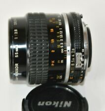 The Nikon Ai-S 55mm f/2.8 Micro Lens for 35mm film camera or video