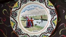 "Vintage Dutch Plate, Societe Ceramique Maestricht, ""Volendam. Eendjes Voeren"""