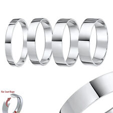 Palladium Wedding Ring (950) Flat Court Shaped Wedding Band