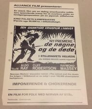 """""""The Naked and the Dead"""" Aldo Ray Robertson 1958 Danish Movie Press Release Kit"""