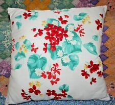 Throw Pillow From Wilendur Extremely Rare Red Alpine Violet Farmhouse Tablecloth