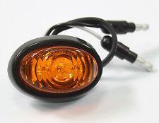 "3/4"" Bullet Amber Oval Mini LED Light Clearance Side Marker Truck Trailer Jeep"