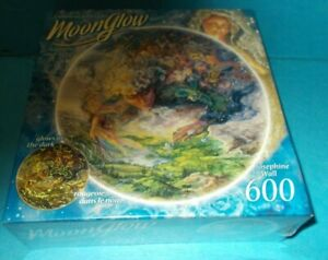 Moonglow Jigsaw Puzzle Josephine Wall 600 Piece Glow In The Dark Sealed New Mint