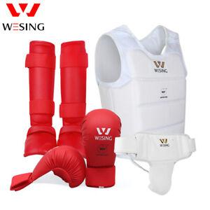 Wesing men Karate gloves sets Karate Protective Gear Equipments WKF approved