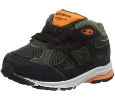 New Balance KJ990I Infant Running Shoe, Black/Dark Green/Orange, 2 XW US Infant