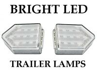 2 x Arrow LED Trailer Lamp Light Clear Lens 4 Functions left + right
