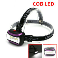3W COB LED Headlight Headlamp AAA Battery Torch Lantern Camping Bright Bright