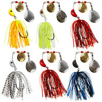 Spinnerbait Jigs Head Rubber Skirts Fishing Lure Pike Bass Fishing Spinner Bait
