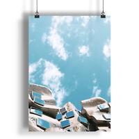 Architecture Building Blue Sky  A0 A1 A2 A3 A4 Satin Photo Poster a1433h