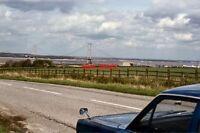 PHOTO  1984 THE HUMBER BRIDGE VIEWED FROM THE B2104.