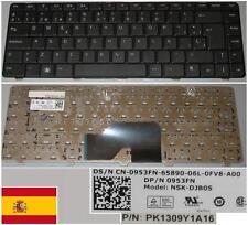 Tastiera Qwerty Spagnola Dell 1370 Serie NSK-DJB0S 0953FN 953FN O953FN Nero