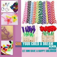 100 Pcs Arts and Crafts Supplies Set Includes Pipe Cleaners Pom Poms Craft DIY