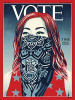 TIME MAGAZINE - NOVEMBER 2020 - VOTE - SHEPARD FAIREY - BRAND NEW - NO LABEL