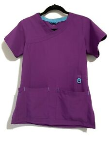Carhartt Force Women's Short Sleeve Scrubs with Front Pockets Size XS Purple