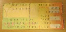 1981 Ozzy Osbourne Philadelphia Concert Ticket Blizzard Of Ozz W/ Randy Rhoads