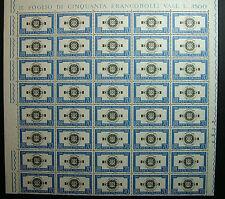 1962  ITALIA  70  lire  Antonio  Pacinotti    blocco di  40 valori  MNH**