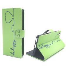Schutz Hülle für Sony Xperia XA Be Happy Grün Tasche Panzer Schutz Glas 9H