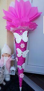 Schultüte Zuckertüte Mädchen Prinzessin Schnetterling Unikat 105 cm