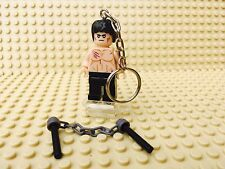 Bruce Lee Enter The Dragon Lego Minifigure Keyring UK SELLER