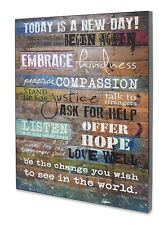Motivational Wall Art Decor Multi Color Words Typography Poster No Frame 12x16