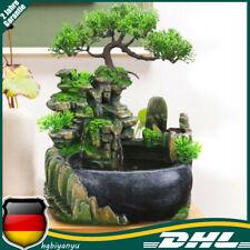 Garten Brunnen Steingarten Wasserfall Pflanze Zimmerbrunnen Desktop Ornament
