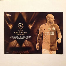 Wesley Sneijder CP-WS Championship Pedigree #ed/10 Made 2016 Topps UEFA 5X7 GOLD