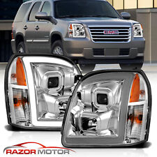 [Led Bar] For 2007-2014 Gmc Yukon Xl Denali Chrome Halo Projector Headlights (Fits: Gmc)