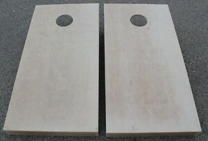 """24x48 CORNHOLE BOARDS BEANBAG TOSS GAME SET """"pick your colors"""" bags UNFINISHED"""