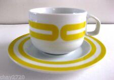 "EUC BOB VAN ALLEN FOR MIKASA ""TANGENT YELLOW"" CUP & SAUCER, JAPAN"