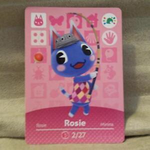 Animal Crossing Amiibo Card 'Limited Edition' Rosie 27/2 Nintendo Wii U / 3DS