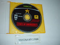 STATE OF EMERGENCY game disc only in plain case - Original Microsoft XBOX
