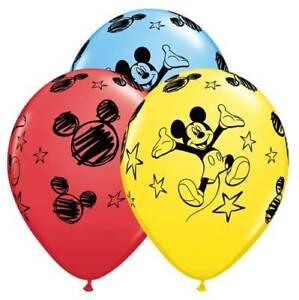 "6 pc - 11"" Disney Mickey Mouse Latex Balloons Party Decoration Happy Birthday"