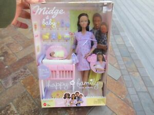 "Vintage 2002 Barbie ""Midge & Baby Happy Family"" Doll Set, NIB"