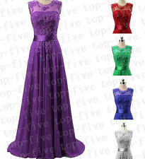 New Long Chiffon Wedding Bridesmaid Party Prom Evening Dress Size 6-18+Custom
