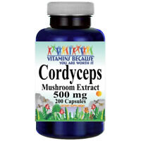Cordyceps Extract 500mg  - 200 capsules  by Vitamins Because