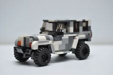 Jeep LEGO Military Army Snow Camo Rubicon City Truck SUV Speed Champions Custom