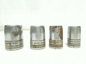 """VTG S-K 1/2"""" 12 point Chrome Drive Sockets 3/4 -  11/16 - 5/3 - 7/8 Made in USA"""