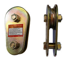 """20 x 4000lb 1/4"""" Lifting Pulley and 20x Swivel pulley block LOT OF 40"""