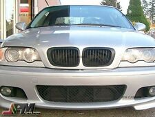 Matte Black Front Kidney Grill Grille For BMW 98-01 E46 3-Series 2 Door Only