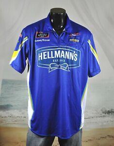 Noah Gragson #9 NASCAR Pit Crew SHIRT Sz XL JR Motorsports HELLMANN'S Chevrolet