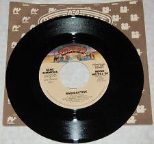 "KISS vintage 7"" 45 Single GENE SIMMONS Radioactive PROMO USA Vinyl Record Aucoin"