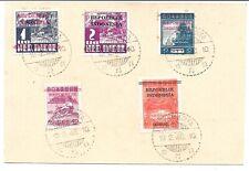 INDONESIA 1946 POSTAL STATIONERY CARD OVERPRINTS