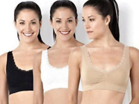 NEW Seamless padded Sports Style Bra Crop Top Vest Comfort shapewear