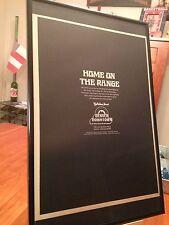 """BIG 11X17 FRAMED ORIGINAL """"HOLIDAY INN DENVER DOWNTOWN"""" COLORADO HOTEL PROMO AD"""