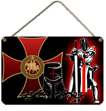 KNIGHTS TEMPLAR WALL PLAQUE  Aluminium Wall Sign Knight Teutonic Crusader Gift
