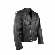 New Mens Motorcycle Perfecto Brando 100% Real Leather Jacket Black Biker 3XL M L