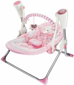Remote Electric Baby Swing Cradle Infant Music Rocking Chair Sway Seat Bouncer