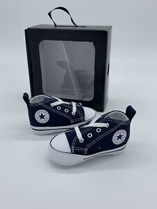 Converse Baby Shoes First Star Bootie Navy Blue Crib Infant Chuck Taylor Size 4